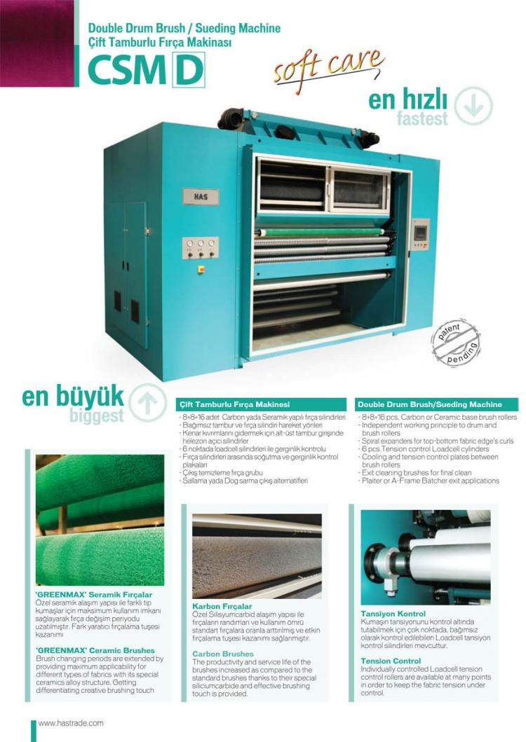 CSM Carbon Brush Sueding Machine